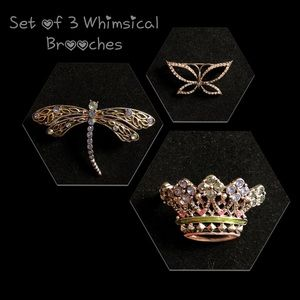 Jewelry - Set of 3 Whimsical Brooches
